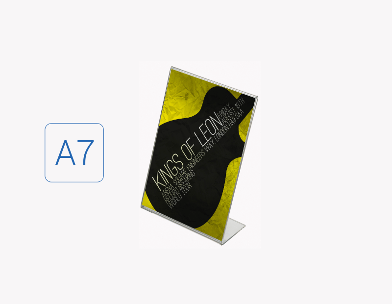 Suport eticheta / cartonas A7 tip L