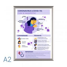 Rama click Silver A2 + afis Coronavirus GRATUIT