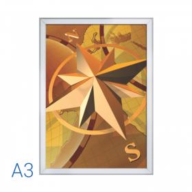 Rama PREMIUM A3 Silver pentru afise / postere